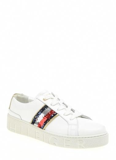 Tommy Hilfiger Kadın Sequıns Fashıon Sneakers FW0FW03704 Beyaz